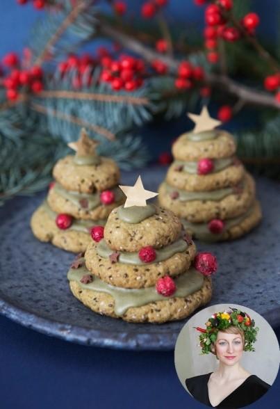 Matcha-Chia-Weihnachtsbäume