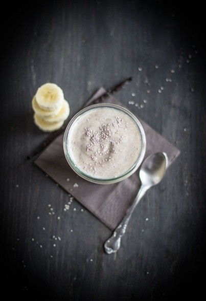 Veganer Chia-Bananenpudding