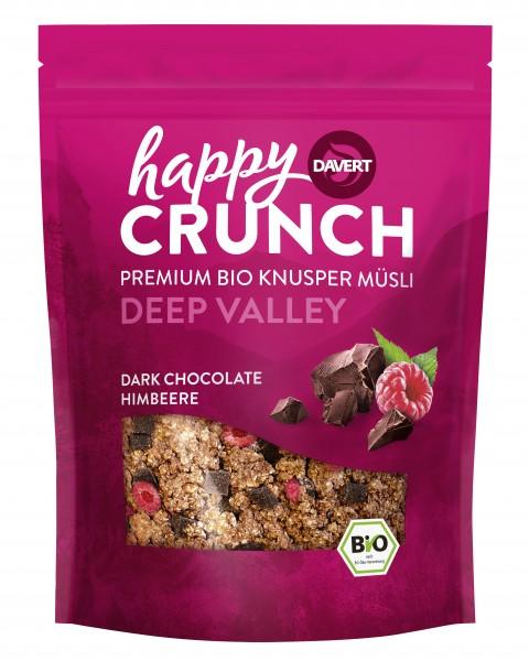 Happy Crunch Dark Chocolate Himbeere 325g
