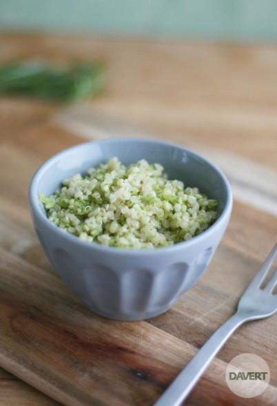 Weißer Quinoa mit Brokkoli & Gremolata