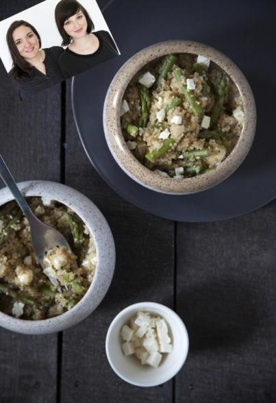 Quinoa-Spargel-Salat mit Feta-Käse von Liz & Jewels