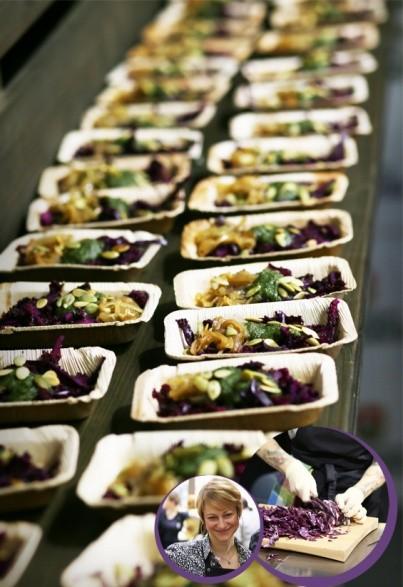 Rotkohl-Quinoa-Salat mit Kürbiskern-Pesto