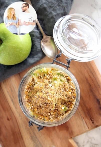 Overnight Oats mit grünem Apfel von Eat this!