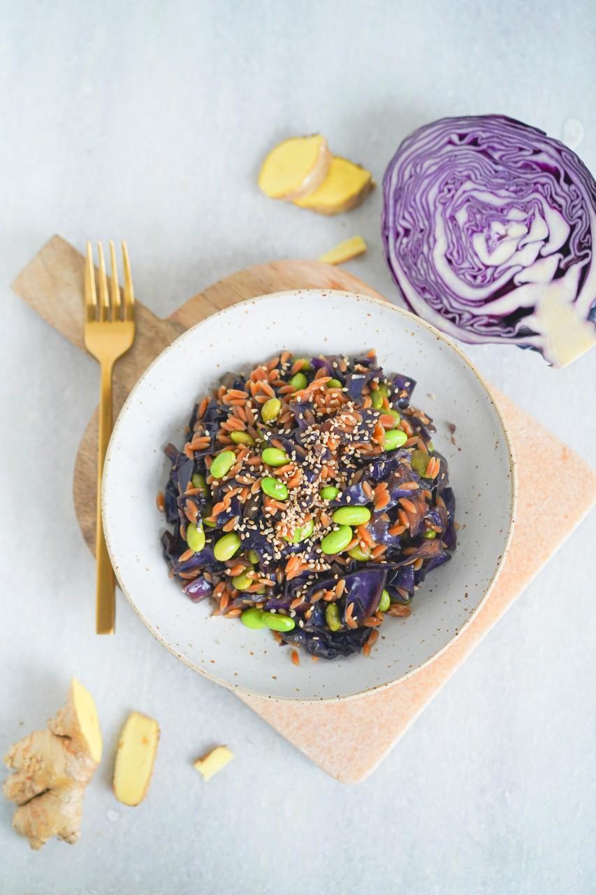 Fancy Wok mit Rote Linsen Reis