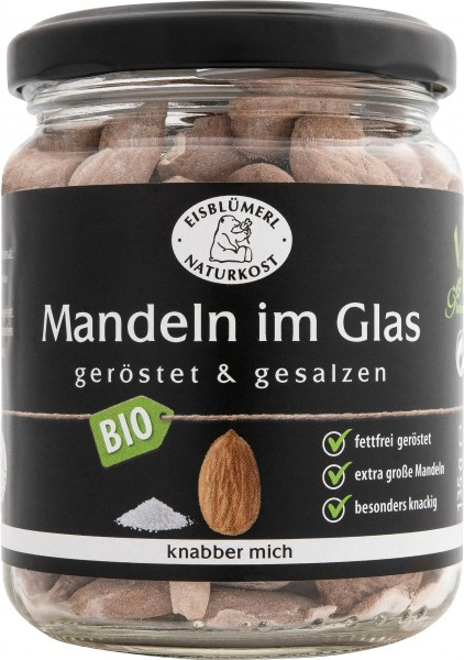 Mandeln im Glas geröstet und gesalzen 135g