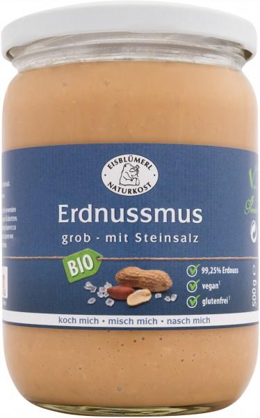 Erdnussmus grob mit Steinsalz 500g