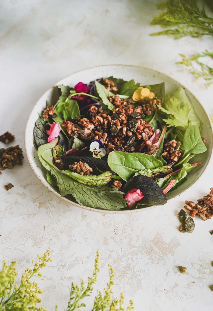 Crunchy Topping für Salat